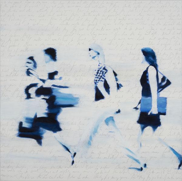 web_Schnelle Frauen blauer oel und Bleistift 80 x80